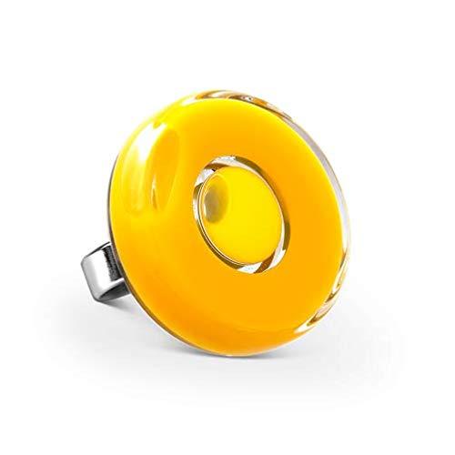 Pylones Ring aus Glas – Duo Mini Gelb