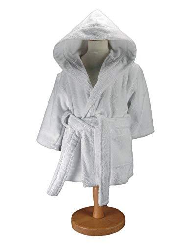 Sensei 02012106.04 Enfant Uni Peignoir De Bain Blanc Taille 6 Ans