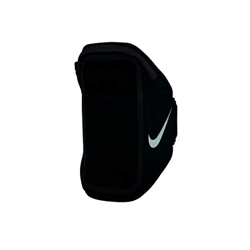 Nike Unisex – Erwachsene Pocket Arm Band Plus Armband, Black/Black/Silver, One Size