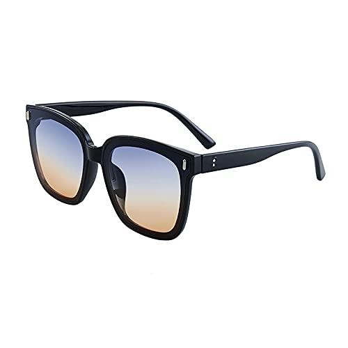 WQZYY&ASDCD Gafas de Sol Gafas De Sol De Gran Tamaño para Mujer, Gafas De Sol para Hombre, Gafas De Sol Negras Clásicas, Gafas De Colores, UV-Black_Gray_Yellow