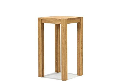 Naturholzmöbel Seidel Hochtisch 50x50cm Rio Bonito Farbton Honig hell Pinie Massivholz Tisch Bartisch Bistrotisch Stehtisch geölt und gewachst, Optional: passende Barhocker mit Metallstreben