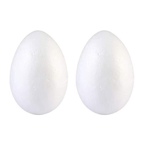 ABOOFAN 2 Stück Schaum Eier Ostern Styropor Styropor Ei Formen Osterei Dekorationen Ornamente (Weiß 20Cm)