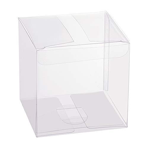 BENECREAT 30 STÜCKE 8x8x8 cm Clear Cube Hochzeitsbevorzugungskästen PVC Transparent Cube Geschenkboxen für Süßigkeiten Schokolade Valentinstag, Muttertag, Geschenk