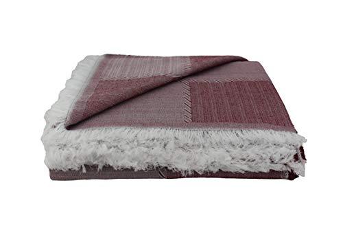 Desconocido Colcha Multiusos para Sofa, Manta Foulard, Plaid, cubrecama. (Granate, 230x290)
