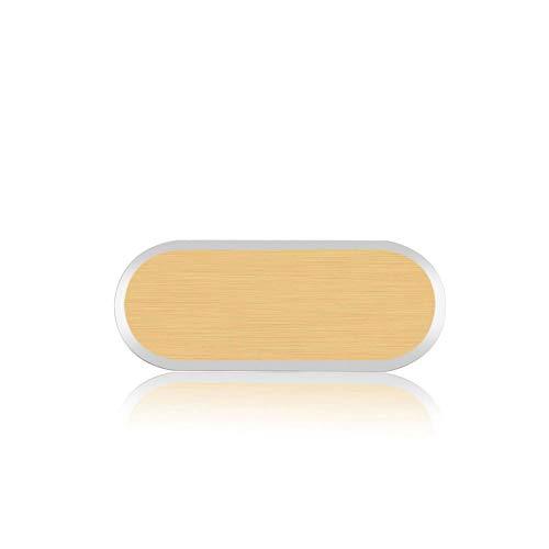 Home Button Protective Aufkleber Metall Aluminiumlegierung Telefon Aufkleber Case Skin Cover Handy Home Tastatur Keycap für Samsung Galaxy S6 / S7 Edge (2 Packungen, Gold)