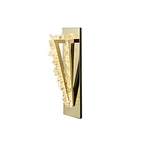 JSJJAWA lámpara de Pared Lámpara de Pared de Piedra de Cristal Natural Moderna para el Engranaje de la Escalera de Acero de Las calcomanías de la luz de la luz de la Noche de Metal