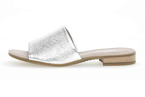 Gabor Comfort Sport Pantoletten in Übergrößen Silber 42.790.11 große Damenschuhe, Größe:42