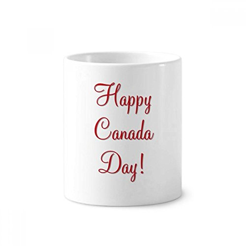 DIYthinker Día feliz de Canadá hoja de arce de cerámica de dibujo cepillo de dientes titular de la pluma taza de la taza blanca 350ml regalo 9,6 cm de alto x diámetro 8.2cm