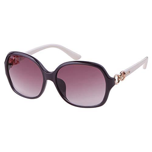 ADEWU Gafas de Sol Polarizadas Mujer Moda Estilo Oval Elegante UV400 Protección Negro
