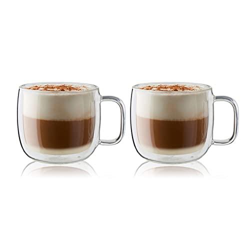 Zwilling® Sorrento Plus 2-TLG. Cappuccino-Set mit Henkel, 450 ml
