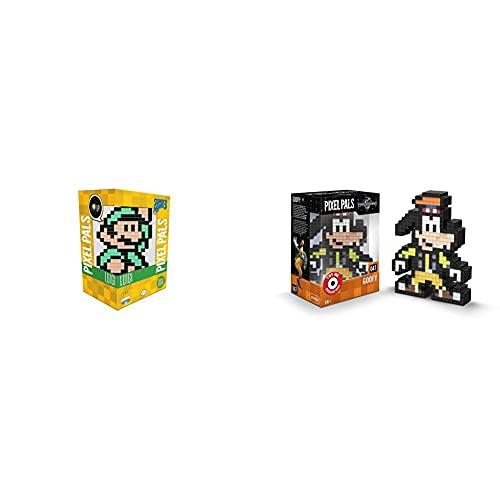 PDP Lampara de sobremesa Pixel Pals Luigi Mario Bros (PS4), Multicolor + Pixel Pals Kingdom Hearts Goofy