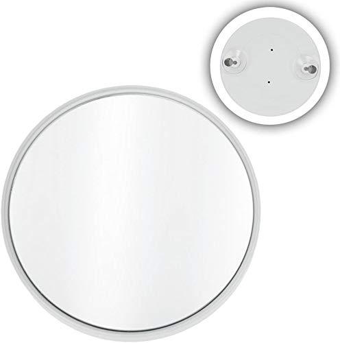 Kosmetex kleiner Saugnapf Spiegel mit 10-fach Vergrößerung, weiß, rund Ø 8.5 cm
