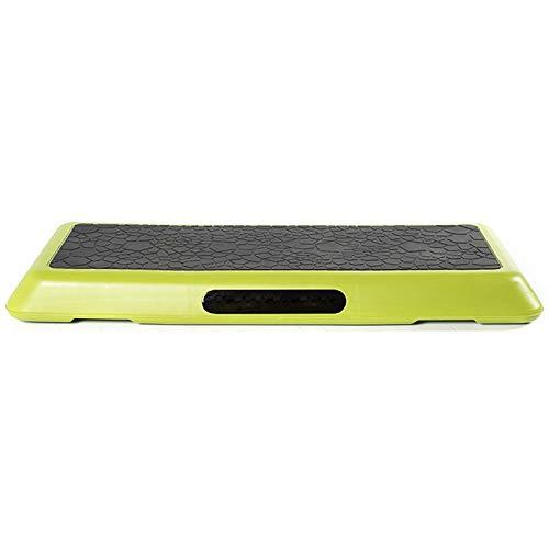 XMSIA Stepper Aerobica Fitness Pedalo per Pedale Sportivo Cardio Scala Aerobica Aerobica Aerobica Pedale ritmico Adatto Step Board per Home Gym (Color : Green, Size : 108x41.5x20cm)