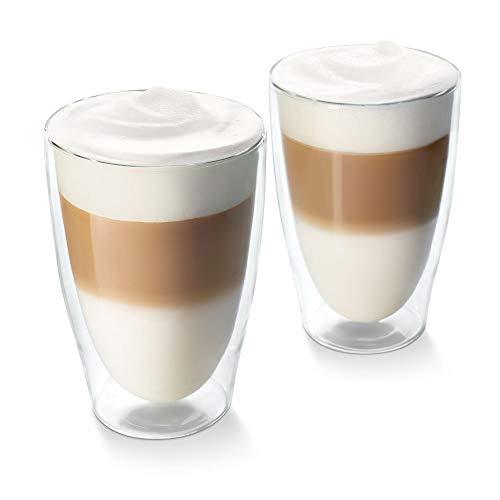 Tchibo Cafissimo Gläser, doppelwandiges Thermoglas 2er Set (Latte Macchiato Gläser)