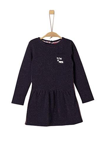 s.Oliver Mädchen 53.908.82.2986 Kleid, Blau (Dark Blue Melange 59w4), 122 (Herstellergröße: 122/REG)