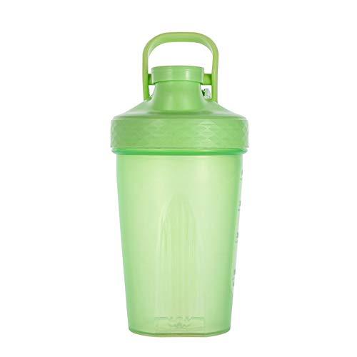 LSGMC Shaker Copa, Botellas De Plástico De Deportes Acuáticos, a Prueba De Fugas Portátil Multifuncional Blender Shake Copa, 500ml,Verde
