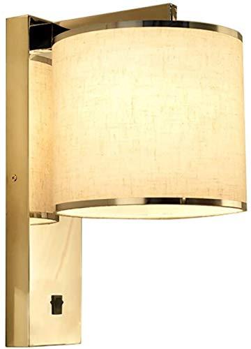 Modern Minimalist stof muur lamp slaapkamer bedlampje Leeslamp for hotelkamers (Kleur: verbeterde versie), Kleur: Normaal Edition (Color : Normal Edition)