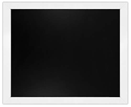 """Loddie Doddie Magnetic Chalkboard - 18"""" x 22"""" Magnetic Chalkboard for Wall Decor - Easy-to-Erase Large Chalkboard White Frame for Kitchen - Big Framed Magnet Blackboard - Hanging Black Chalkboards"""
