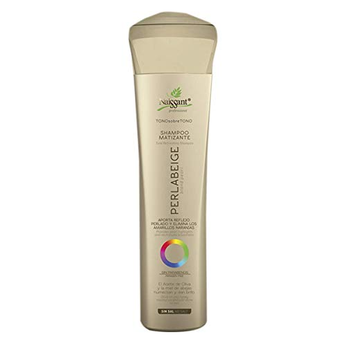 Naissant Professional Hair Purple Shampoo.Color Care, Prepare and No Yellow Brassy. Without Salt, Paraben and Ammonia. (Blond Pearl, Perla Beige)