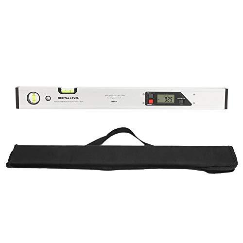 Nivellierlineal, 600 mm Aluminiumlegierungslineal Digitaler Winkelsucher-Neigungsmesser mit Wasserwaage für verschiedene Nivellier- und Winkelmessungen
