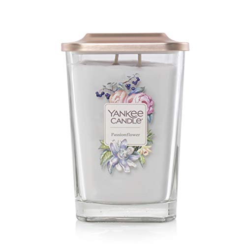 Yankee Candle Elevation Collection with Platform Lid Passionflower Scented Candle, Large 2-Wick, 80 Hour Burn Time
