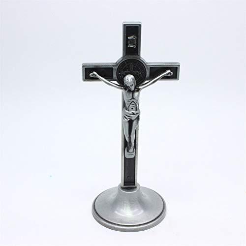 YUNGYE Cruz Amarga como La Iglesia De Jesús Icono De La Iglesia Decoración Oficina Hogar Religiosa Joyería (Color : Tin)