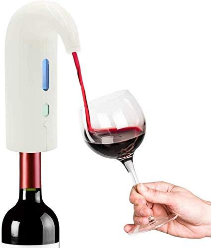 WQF Verseur de vin électrique, Bec verseur de vin Automatique, Machine de Robinet de Bouteille de vin de Chargement USB, Distributeur d'aérateur de vin Intelligent, pour Mariage/anniversa