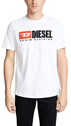 Diesel Herren T-JUST-Division T-SH T-Shirt, Weiß (White 100), Large