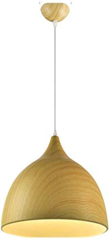 WHKHY Pendelleuchten Lampe Holz Aluminium Anhnger Flutlicht für Hotels Chrom Lobby Chrom Einfache Moderne Techniken Inlandspolitik Beleuchtung, Teakholz, 250  270 mm