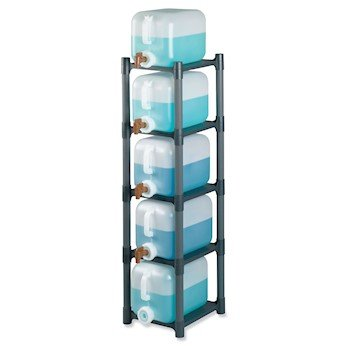Cole-Parmer 6251010 Modular PP Carboy Rack for Square Carboys, 4 Shelf