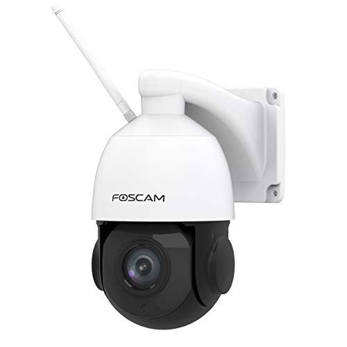 Foscam SD2X - 1080P HD Dual Band WI-FI PTZ Outdoor Camera - AI Human Detection, 18X Optical Zoom, Two-way Audio, 50M Night Vision - View and Playback Anywhere on App - Works with Alexa and Google