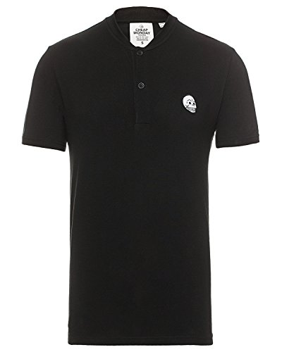 Cheap Monday Herren Tradition Polo T-Shirt, Schwarz (Black), L