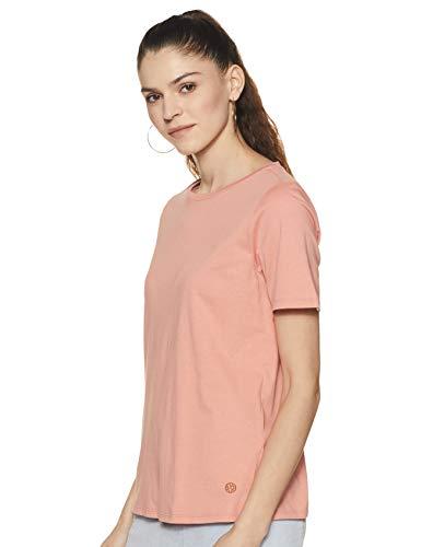 Van Heusen Woman Women's Plain Regular fit T-Shirt (VWCTURGB479691_Pink X-Large)