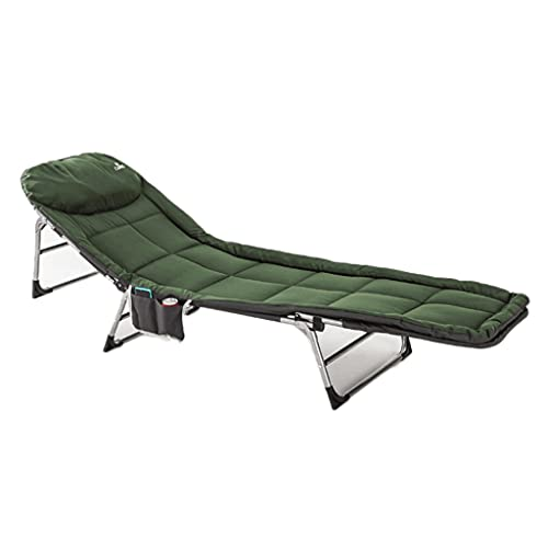 LZL Cuna de Acampada espesante de Esponja  Cama de una Sola Persona Plegable de Deluxe en una Bolsa para Uso en Interiores y Exteriores  Ultra Ligero (Color : Green)