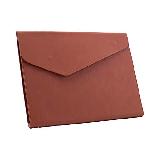 Bolsa de arquivo A4 PU Couro Bolsa de documentos Portfólio de papel Fatura de contrato Organizador de armazenamento de notas com fivela magnética para material escolar de escritório