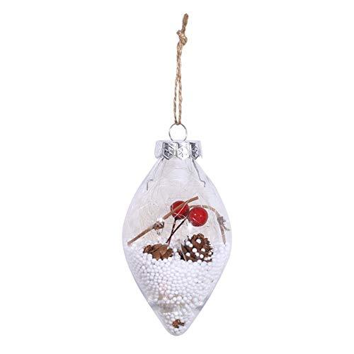 Ahomi kerstboom druppelvorm hangende bol transparant metalen bal uitgangspartei-decor