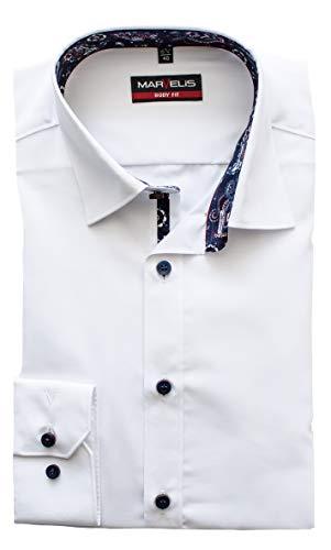 Marvelis Hemd, Body Fit mit extra Langen Arm 69cm, Weiß, Bügelleicht, New Kent | Gr. 41