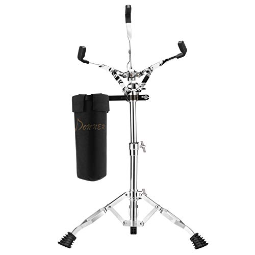 Donner Snare Drum Stand, Concert Snare Drum Stands Adjustable Snare Stand Double Braced with Drumstick Holder Fit for 10''-14'' Dia Drums, Height Range 14.2-22.8 Inches