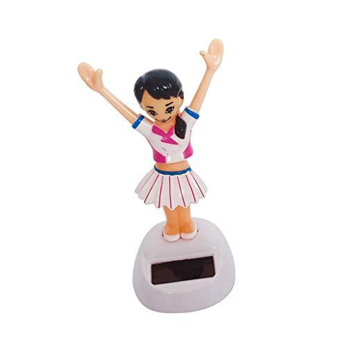Tenlacum Figura de baile de juguete de energía solar Home Car Dashboard ventana ornamento niños juguete - (niña)