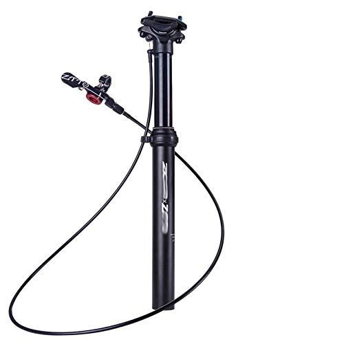WYJW Tija de sillín de Bicicleta Tija de sillín telescópico MTB Suspensión Ajustable Tija de sillín Enrutamiento Interno Cable Externo Palanca remota 100 mm Recorrido 30.9 31.6 (ColZTTO