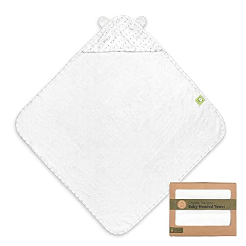 Bamboo Baby Bath Hooded Towel - Large 35X35 Bamboo Baby Towels - 500GSM Bamboo Baby Towel - Shower Towels with Hood for Boys, Girls - Baby Towel Set for Newborn, Infant, Toddlers, Kids (KeaStory)