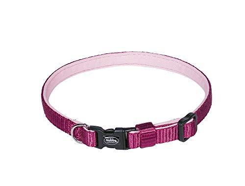 Nobby Collar Classic Preno Mini Frambuesa; Longitud: 13-20 cm; Ancho: 10 mm.