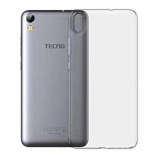 SKMO Protective Silicon Soft Transparent Shockproof Back Cover Case for Tecno Camon i3 pro