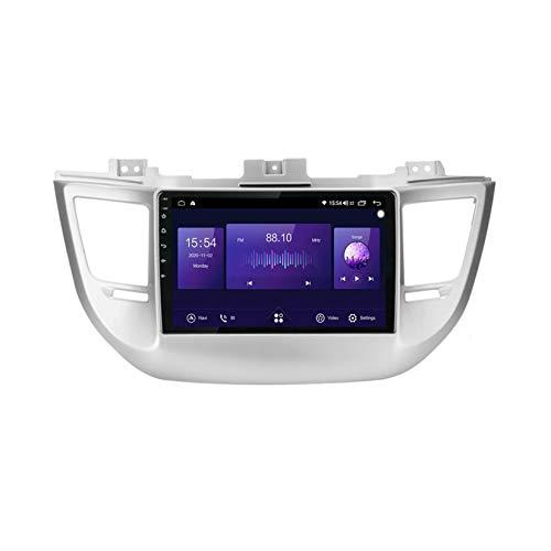 Pantalla Tactil Para Coche,Autoestereo 9 Pulgadas Radio Para Hyundai IX35 Tucson 3 2015-2018 Android GPS Navegación Cámara De Respaldo Estéreo De Coche Audio FM/Am/RDS Radio Video Player,7862,4G+64G