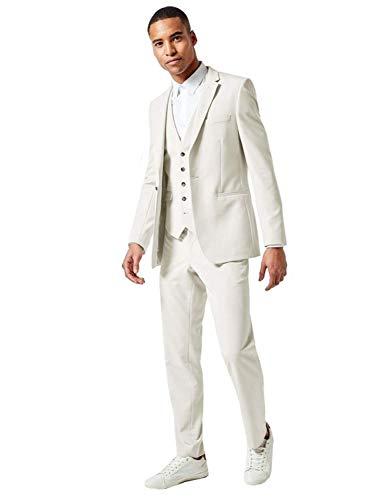 FRANK Herren Anzug 3 Stück Revers Business Arbeitsanzug