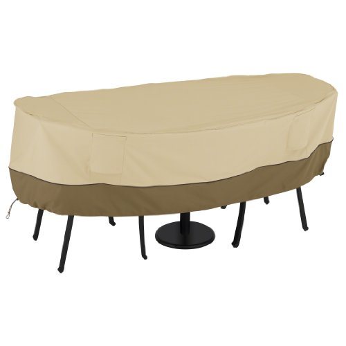 Classic Accessories Veranda Water-Resistant 40 Inch Bistro Round Patio Table & Chair Set Cover
