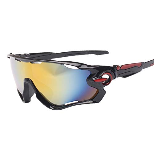 JFSZZ Lentes Ciclismo Gafas Anti-UV Exterior Gafas de Sol Deportivas for Montar a la montaña Escalada Pesca Correr Bicicleta (Color : Black, Eyewear Size : One Size)