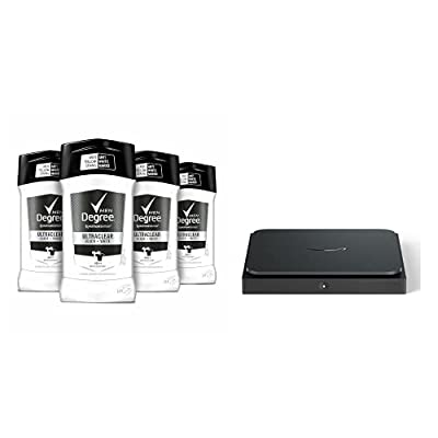 Degree Men UltraClear Antiperspirant Mens Deodorant 2.7 oz, 4 Count + Amazon Dash Smart Shelf (Small)