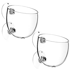 2Pcs Aquatic Plant Cup Pot Holder, Crystal Glass Aquarium ...