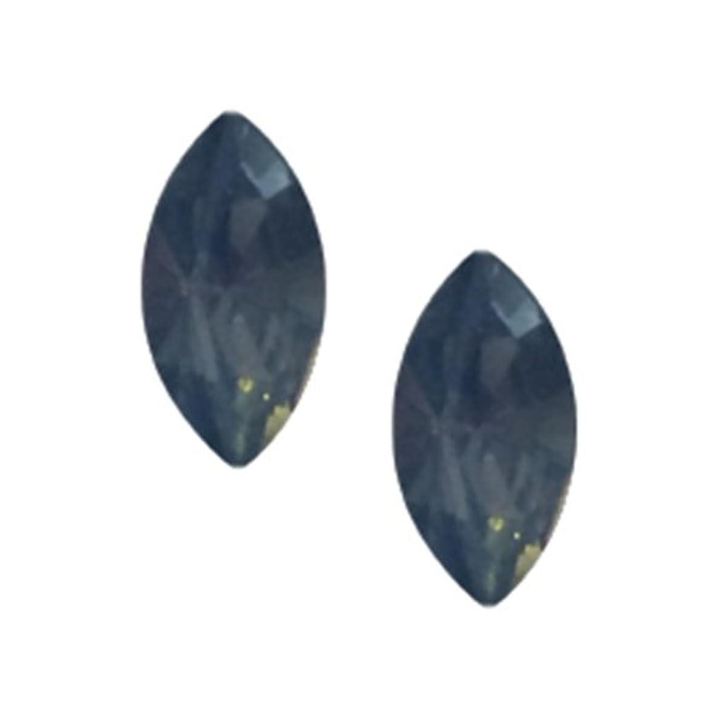 倒産励起頑張るPOSH ART ネイルパーツ馬眼型 3*6mm 10P ブルーオパール